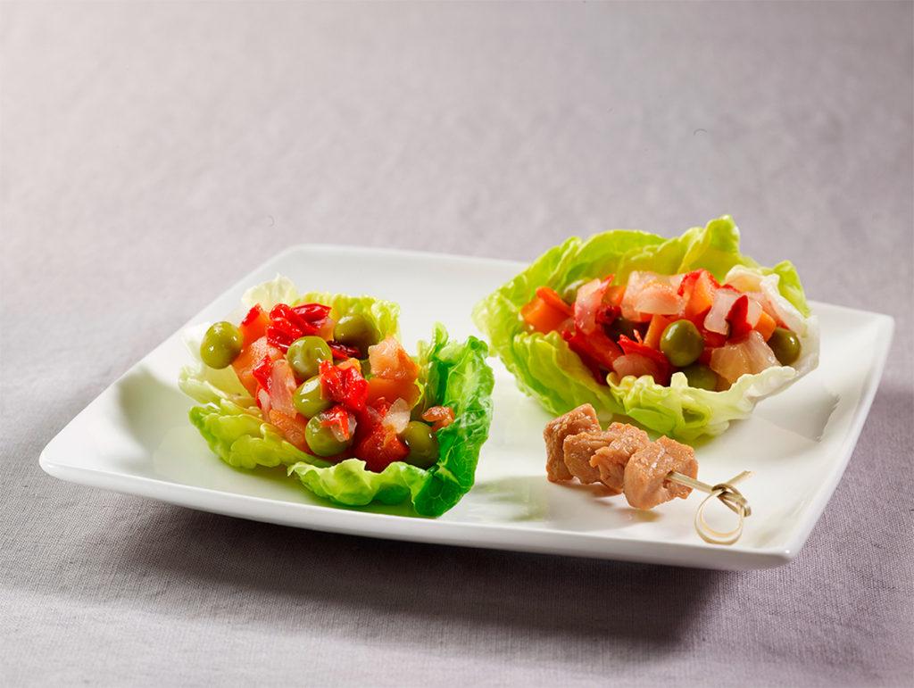 Ensalada mediterránea con pollo